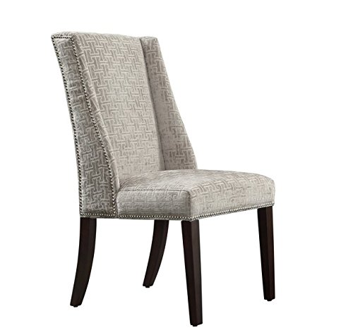 gray wingback chair. Amazon.com - INSPIRE Q Geneva Grey Link Wingback Contemporary Modern Upholstered Hostess Chairs (Set Of 2) Gray Chair