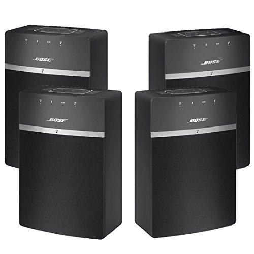 Bose SoundTouch 10 x 2 Wireless Starter Pack Black Bundle - 4 Speakers