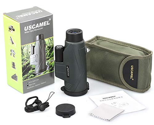 LFFCC 10x42 High Definition Monocular Telescope and Quick Smartphone Holder - New Waterproof Monocular -BAK4 Prism for Wildlife Bird Watching Hunting Camping Travelling Wildlife by LFFCC