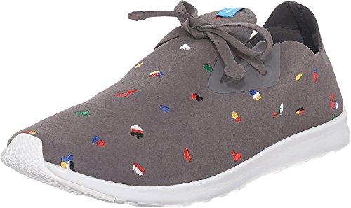Native Sneaker Dublin Fashion Unisex White Chipped Moc Grey Rubber Shell Apollo ff4qP
