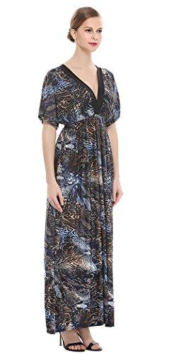 Avacostume Femmes, Plus La Taille V-cou Imprimé À Long 22816 Robe Maxi Soirée