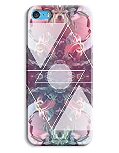 Floral Triangle Indie Quirky Pattern iPhone 5c Hard Case Cover wangjiang maoyi by lolosakes