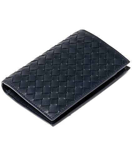 wiberlux-bottega-veneta-mens-woven-real-leather-bi-fold-wallet-one-size-navy