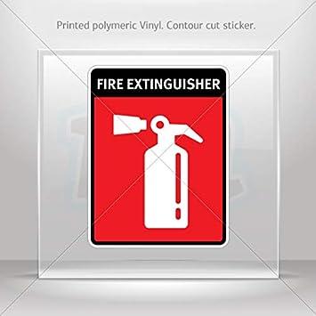 Adhesivo de alarma contra incendios emergencia Signs ...