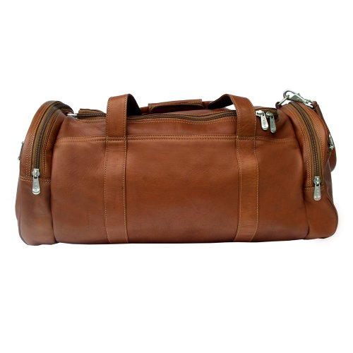 Piel Leather Gym Bag, Saddle, One Size by Piel Leather