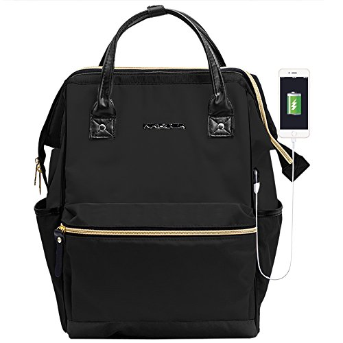 KROSER Backpack Repellent Briefcase Men Black