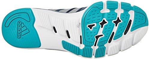 Adidas Performance Adipure 360,3 W Formación de zapatos, Negro / gris metálico / congelado Amarill Blue/Metallic Silver/Shock Green