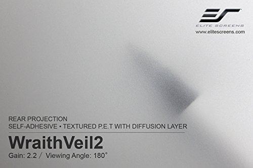 Elite Screens WraithVeil2, Self-Adhesive, 2.2 Gain, Rear Projection Screen Material Sample, WRAITHVEIL2-SM