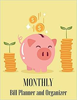 amazon monthly bill planner and organizer piggy bank design
