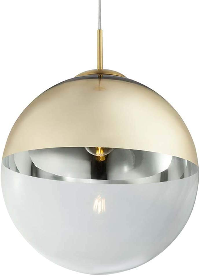 Luxus LED Hänge Leuchte Schlaf Gäste Zimmer Kugel Decken Lampe Glas Gold-Farben