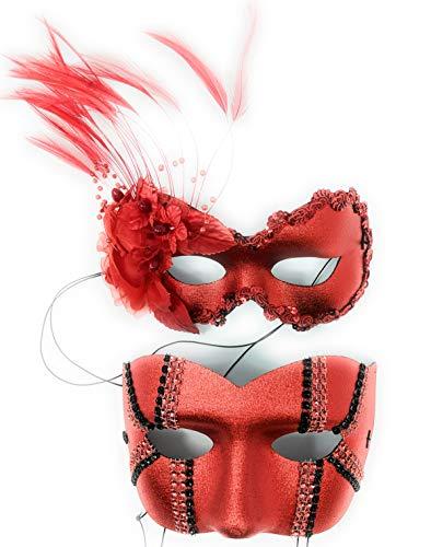 Success Creations Annette Daredevil Couples Masquerade Masks -