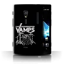 Official The Vamps Phone Case / Cover for Sony Xperia ion LTE/LT28 / Drum Kit Design / The Vamps Graffiti Band Logo Collection