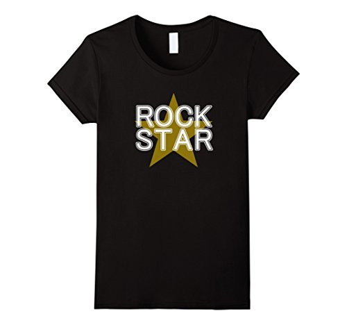 Womens Rock Star Shirt Cool Stylish I'm Awesome Tee Large Black (Female Rock Star Costume)