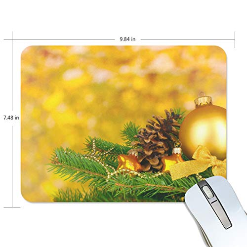 Mouse Pads,Ball Pine Cone Ornaments Premium Textured Mouse Mat Pad, Non Slip Rubber Base Mousepad for Gaming,Computer,Laptop