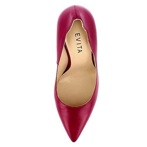 Evita Shoes Alina Damen Pumps Glattleder Pink