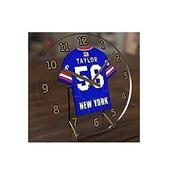 FanPlastic Lawrence 'LT' Taylor 56 New York Giants Desktop Clock - National Football League Legends Edition !!