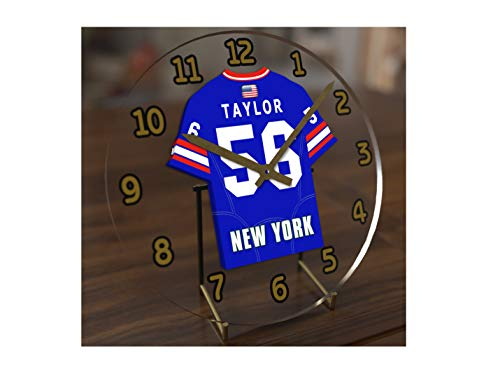FanPlastic Lawrence 'LT' Taylor 56 New York Giants Desktop Clock - National Football League Legends Edition !!
