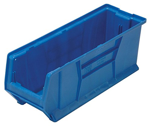 Quantum QUS951 Plastic Storage Stacking Hulk Container, 24-Inch by 8-Inch by 9-Inch, Blue, Case of 6 by Quantum Storage Systems