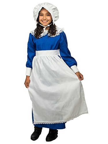 [Colonial Girl Costume MEDIUM] (Colonial Dress For Girls Costumes)
