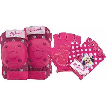 Disney Minnie Mouse Pink Bike Bicycle Skating 6 piece Pad Set (Knee Pads, Elbow Pads & Gloves)