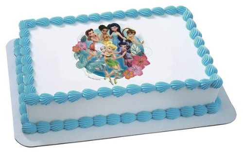 Price comparison product image Disney's Tinkerbell Pixie Hollow Friends Edible Cake Image Topper