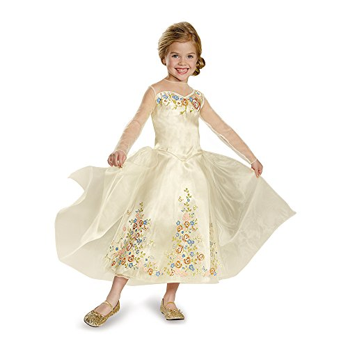 Disguise Cinderella Movie Wedding Dress Deluxe Costume, Small (4-6x) -
