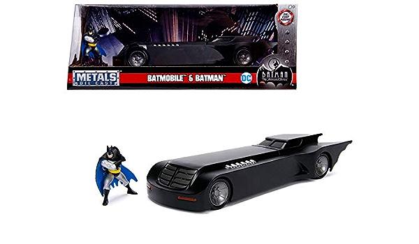 "Jada Metals Animated Series Batman Batmobile Diecast Toy Car 9.5/"" 1:24"
