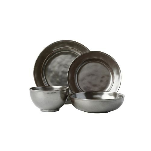 Juliska Pewter Stoneware 4pc Setting