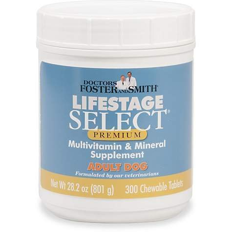 DRS. Foster and Smith Lifestage Select Premium Adult Dog Multivitamin & Mineral Supplement (300)