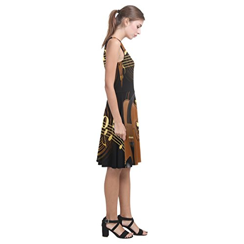 Violin Note D Music Dress Sundress Story Casual and Womens Atalanta HwPtS