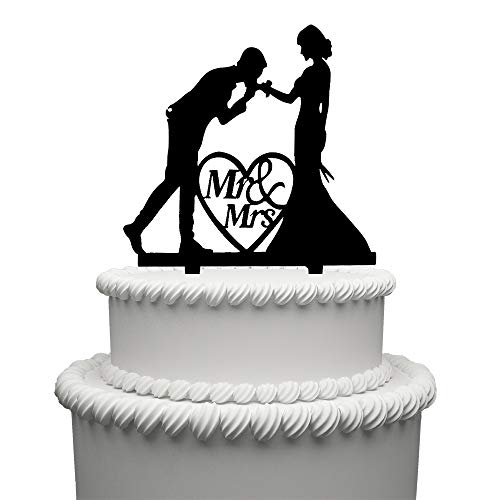 Mr and Mrs Cake Topper Acrylic Love Wedding Cake Topper Funny Bride and Groom Cake -