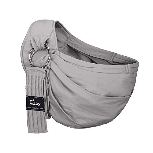 Cuby Ring Sling Baby Wrap Carrier for Infants and Newborns,Breastfeeding Privacy (Grey) ()