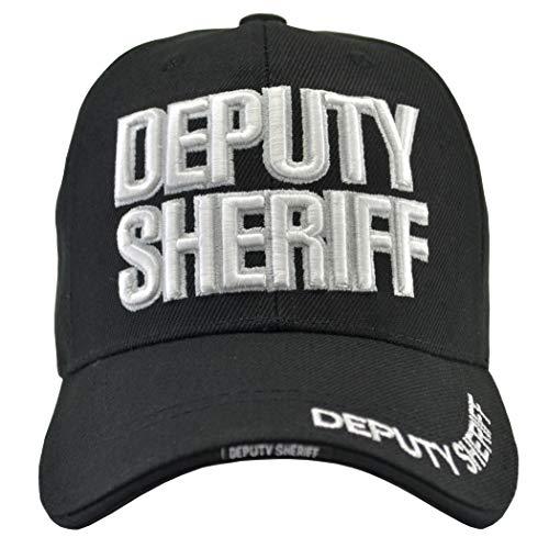 Incrediblegifts Deputy Sheriff Black Hat White Embroidered, Sheriff Deputy Black White, One Size