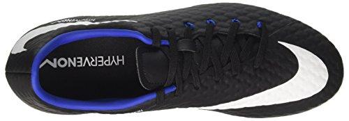 Nike Hypervenom Phelon III FG, Scarpe da Calcio Uomo Nero (Black/White/Dark Grey/Game Royal)