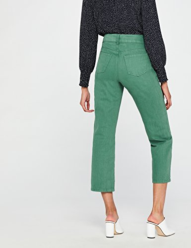 Jeans Green Women's Straight leg FIND Cropped SI7wnq