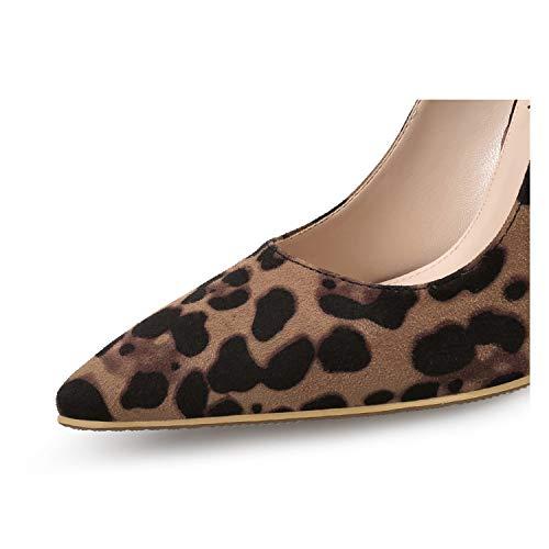 on Demoiselle bout sexy haut léopard mariée pointu slip imprimer dorsay club sandales bar d'honneur talon UXqUwIr6