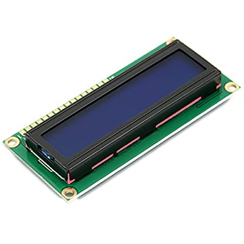 WINGONEER 5V 1602 16x2 Character LCD Display Module Blue Blacklight