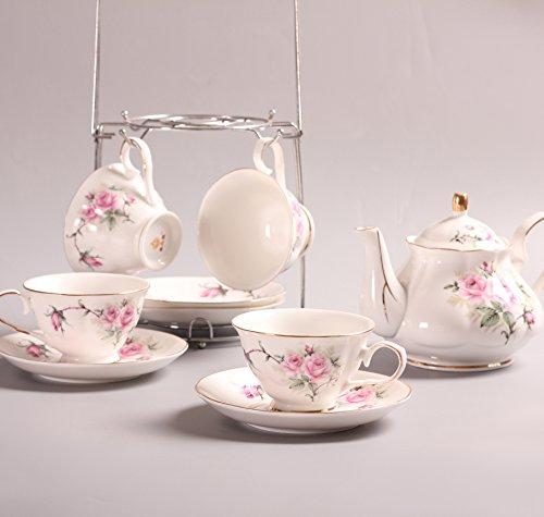 ufengkeHand-Painted Pink Flower Bone China English Tea Set Tea Service Coffee Cup