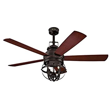 Westinghouse 7217100 Stella Mira 52-Inch Oil Rubbed Bronze Indoor Ceiling Fan, LED Light Kit, Remote Control Included