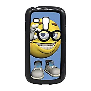 Case Fun Case Fun Smiley in Glasses Snap-on Hard Back Case Cover for Samsung GalaxyS3 Mini (I8190)