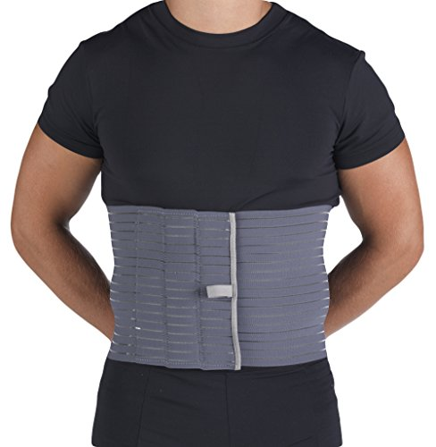 OTC Abdominal Binder for Men, Ribbed Elastic Compression, Select Series, Large