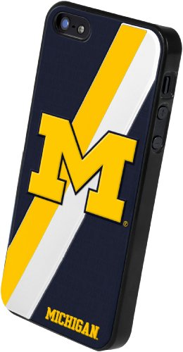 Forever Collectibles NCAA Michigan Wolverines Team Logo Hard Apple iPhone 5 / 5S Case