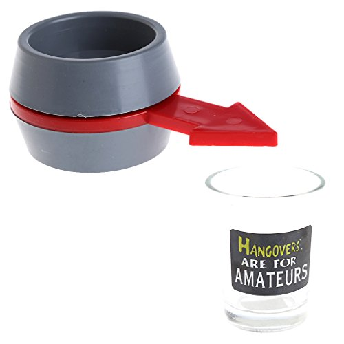 Bettal Spin the Shot Drinking Game Turntable Roulette Glass Spinning Fun Party Home ()