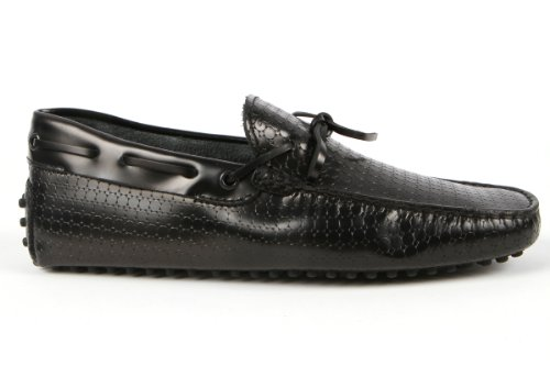 Tod's Mens Shoes Black Gommino Front Tie Moccasins USA Size 7 (Printed Size 6) T127