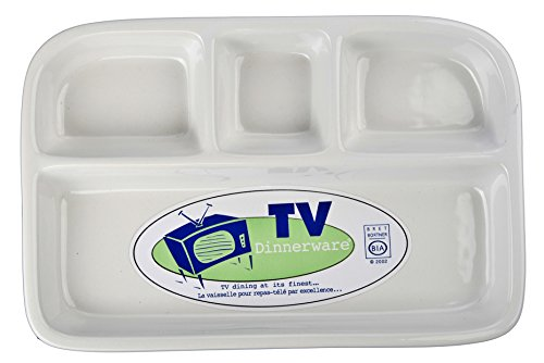 BIA White Divided TV Tray - Divided Porcelain