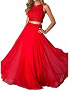 Monalia Women's 2 Piece Prom Dresses 2018 Long Formal Wedding Gown MP015