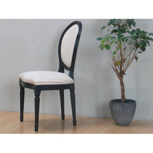4 x Esszimmerstuhl BAROCK Stuhl Sitz Ess Gruppe Sitzmöbel Massivholz schwarz