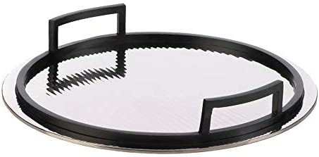 Stupendous Amazon Com Round Mirrored Serving Tray Black Handles Alphanode Cool Chair Designs And Ideas Alphanodeonline