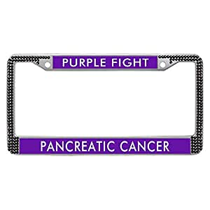 Amazon Com Purple Fight Pancreatic Cancer License Plate