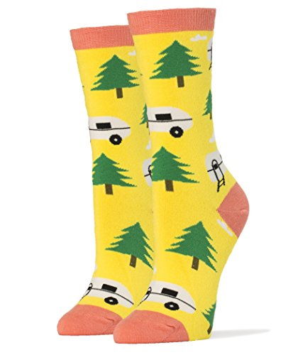 Camping-Themed Socks For Women made our CampingForFoodies hand-selected list of 100+ Camping Stocking Stuffers For RV And Tent Campers!